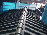 川崎市多摩区瓦からエコグラ-ニに葺き替えました