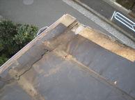 調布市、瓦棒からコロニアルに葺き替え