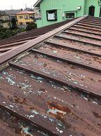 屋根雨漏り棟交換
