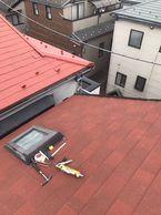 板橋区屋根工事石粒つきディプロマット外壁塗りました。