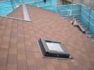 エコグラ-ニ。ディプロマット、自然石粒鋼板 屋根工事