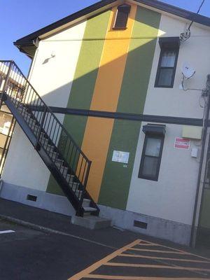 神奈川県厚木市アパ-ト屋根塗装。外壁塗装工事