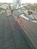 屋根軽量化瓦からエコグラ-ニ屋根葺き替え